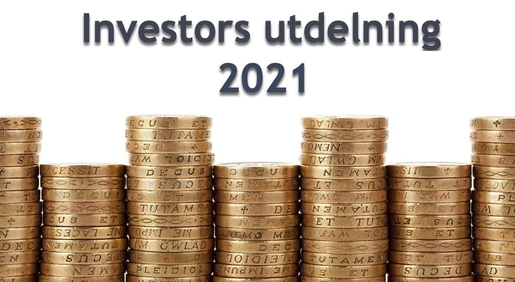 Investors utdelning 2021